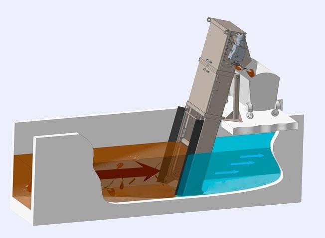 механическая решетка в очистном канале картинка